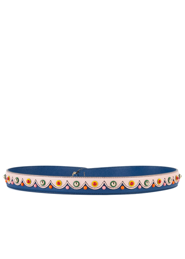 Dolce & Gabbana Womens Multicolored Scalloped Shoulder Strap - ACCESSX