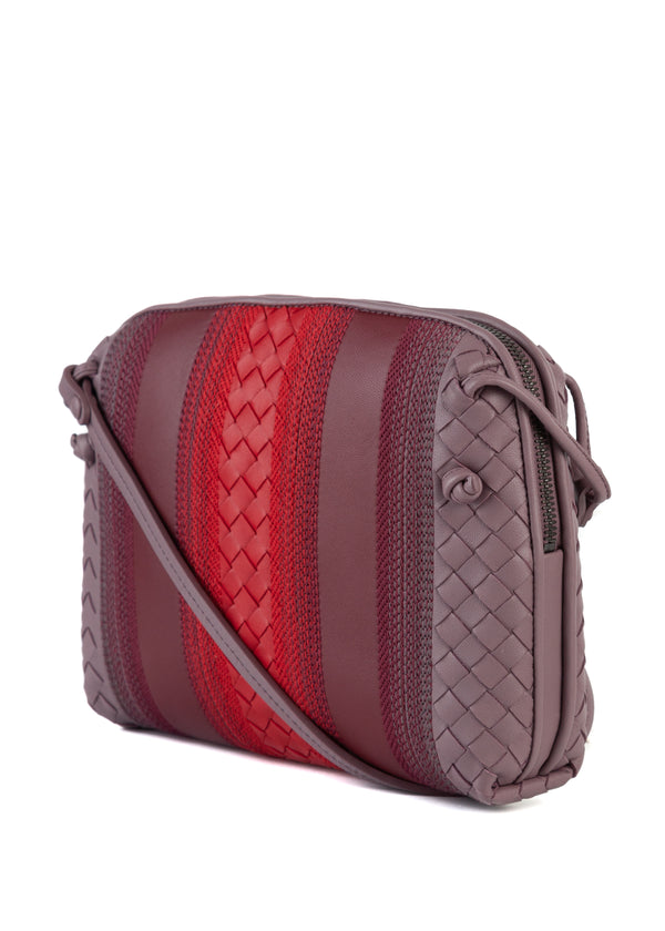 Bottega Veneta Women's Everyday Purple and Red Crossbody Purse - Tribeca Fashion House