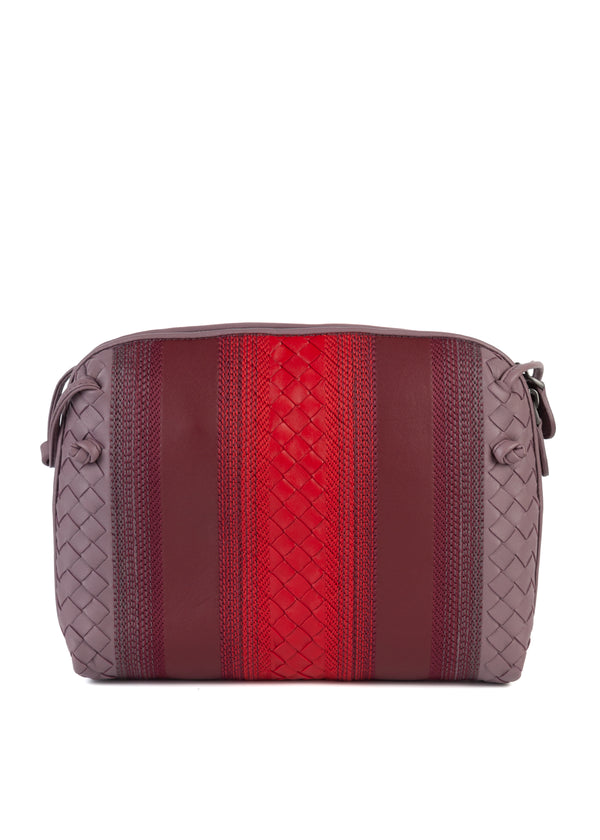 Bottega Veneta Womens Everyday Purple and Red Crossbody Purse - Tribeca Fashion House