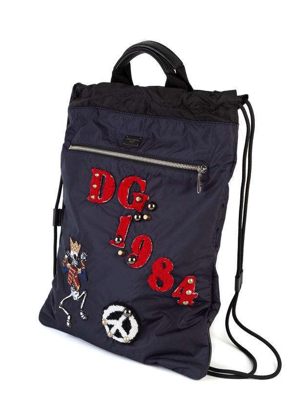 Dolce & Gabbana Mens Drawstring Backpack - ACCESSX