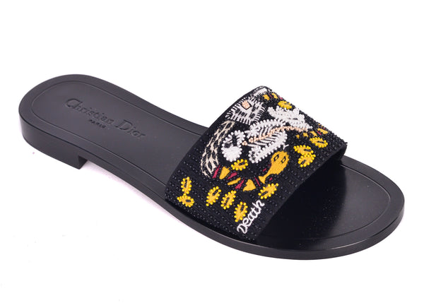 Christian Dior Women's Tarot Black Slippers Clogs - Tribeca Fashion House