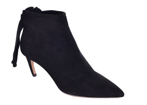 Dior Womens Black Suede La Belle D Tied Ankle Boots - Tribeca Fashion House
