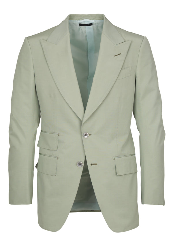 Tom Ford Mens Light Mint Green Wool Blend 2 Pc Suit - Tribeca Fashion House