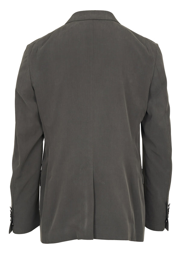 Tom Ford Mens Dark Grey Silk Shelton Blazer Jacket - Tribeca Fashion House
