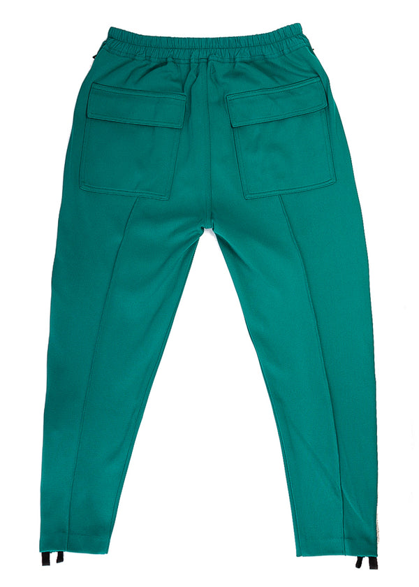 Tom Ford Mens Teal Green Regular Fit Milano Zip Joggers Pants - Tribeca Fashion House