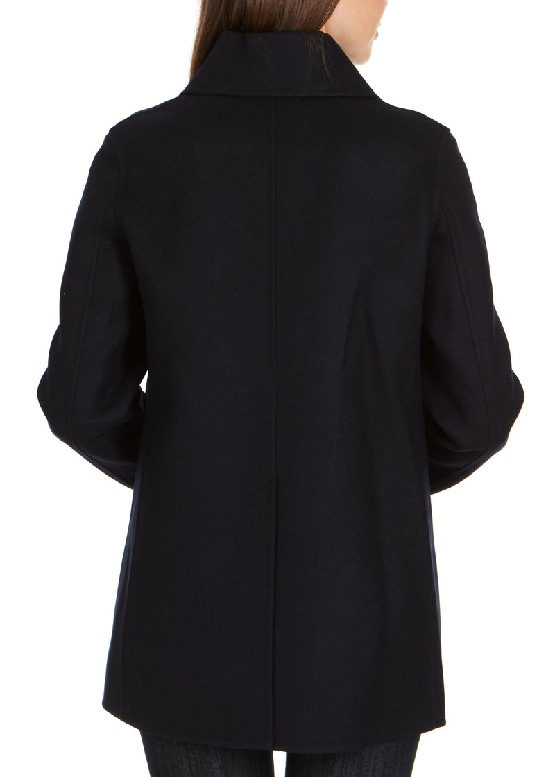 Dior Women's Navy Wool Blend Double Breasted Peacoat - Tribeca Fashion House