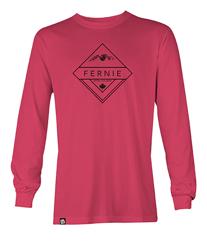 Fernie Diamond Long Sleeve - Guava