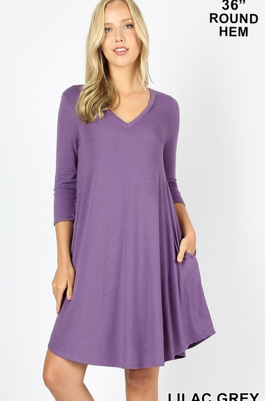 DEAL OF THE DAY Reagan Tshirt Dress with Pockets