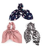 3 Hair Scarf Scrunchie Set