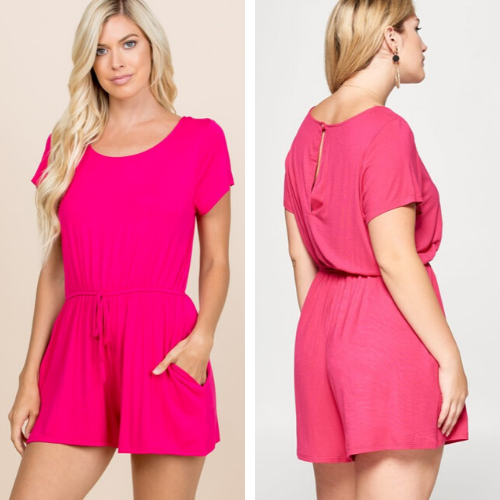 Pink Jersey Romper
