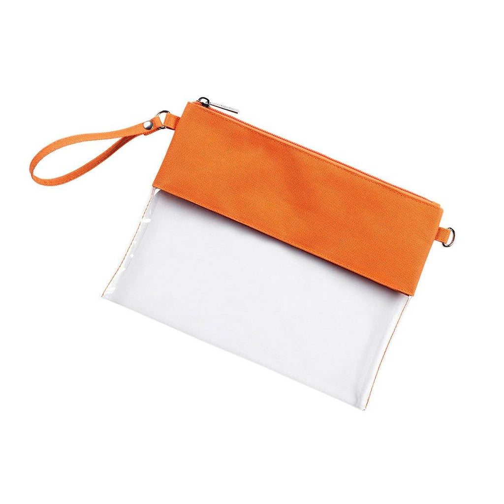 Accessories - Clear Convertible Zipper Wristlet/Crossbody - 10 COLORS AVAILABLE!
