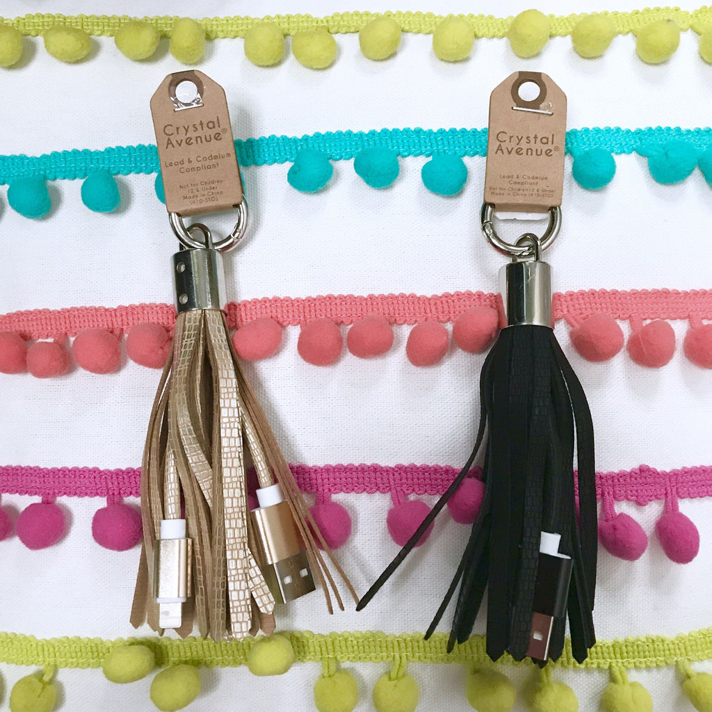 Accessories - Phone Charging Cord Tassel Keychain - IPhone And Android Available!