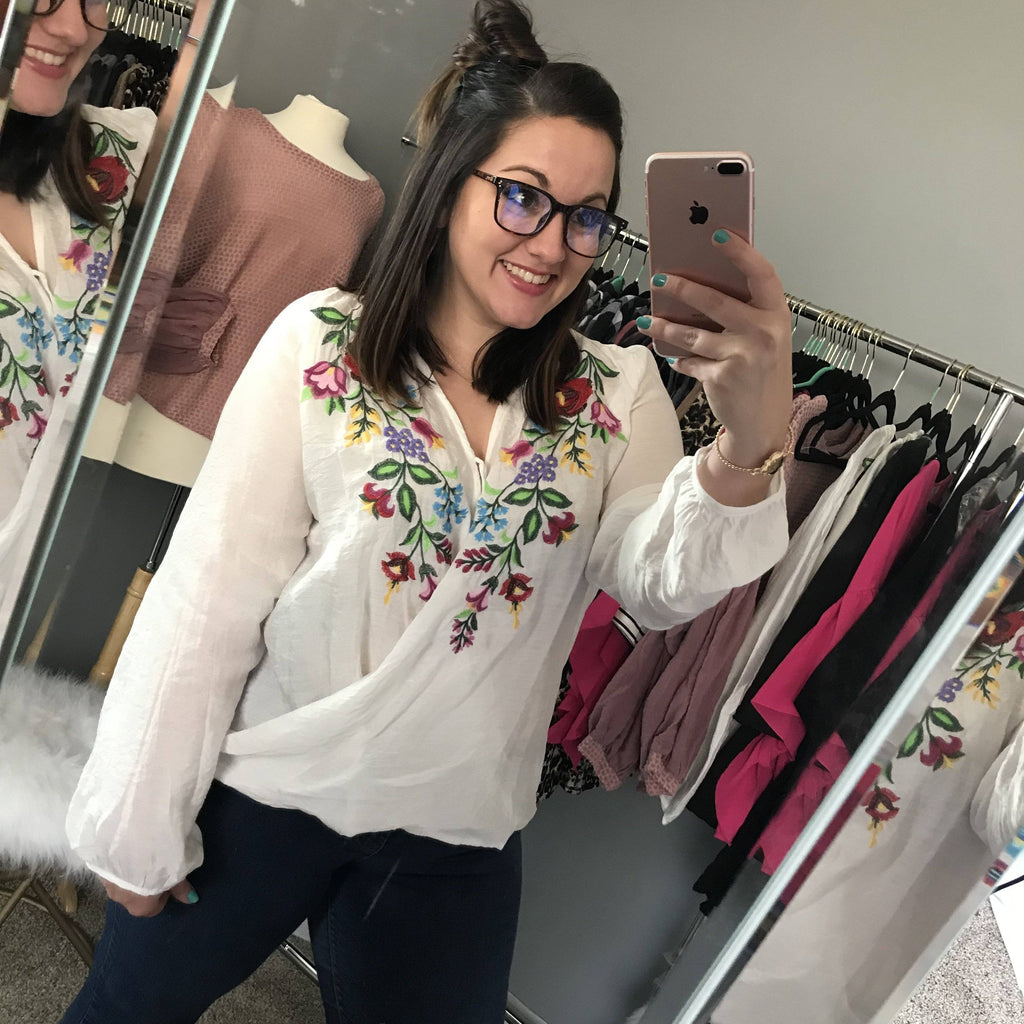 Boutique Top - Mia Embroidered Top +