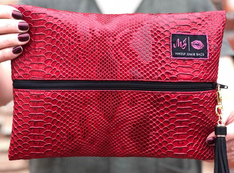 Crimson Cobra Makeup Junkie Bag