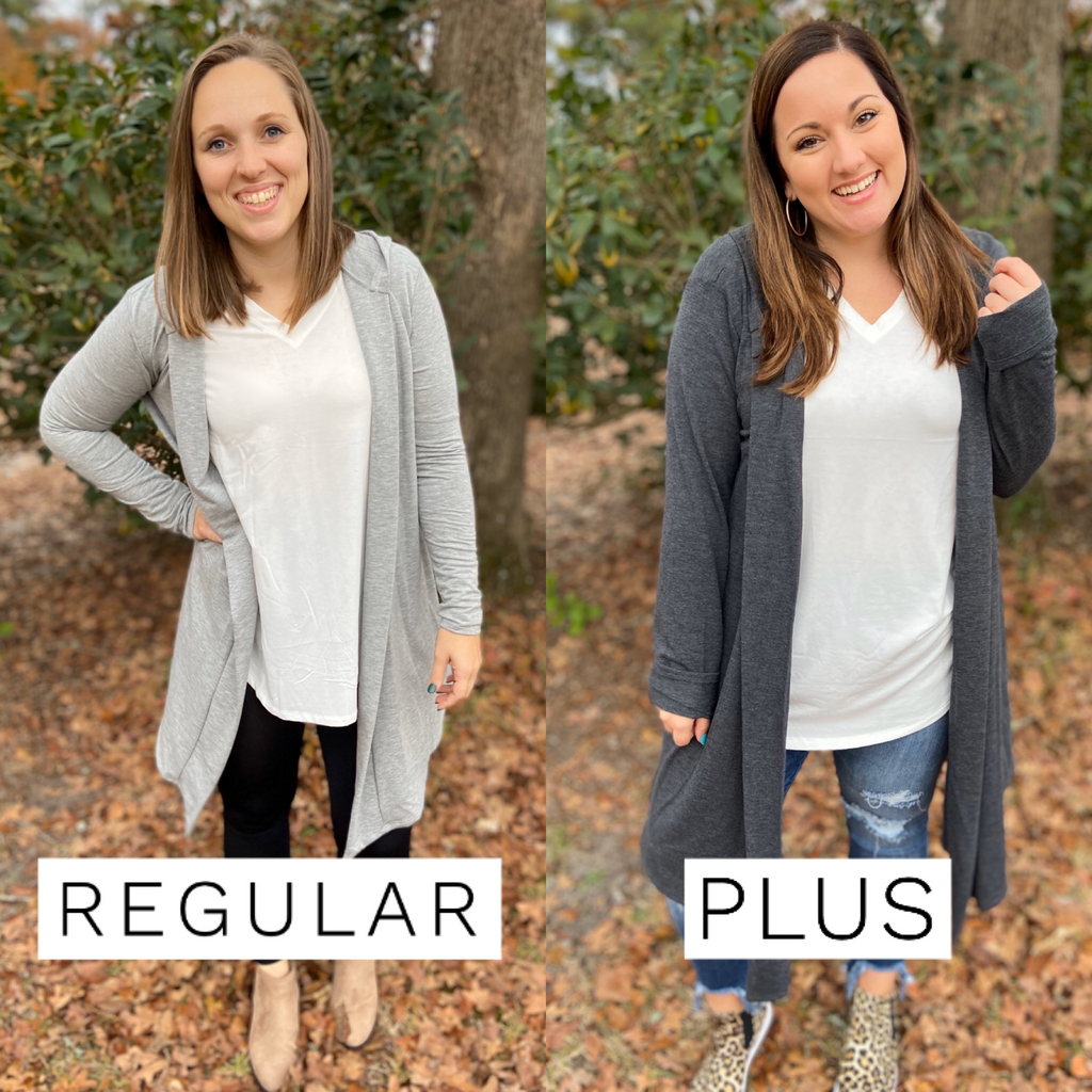 BF - Grey Hooded Cardigan