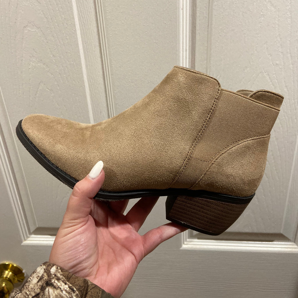 Danielle Taupe booties