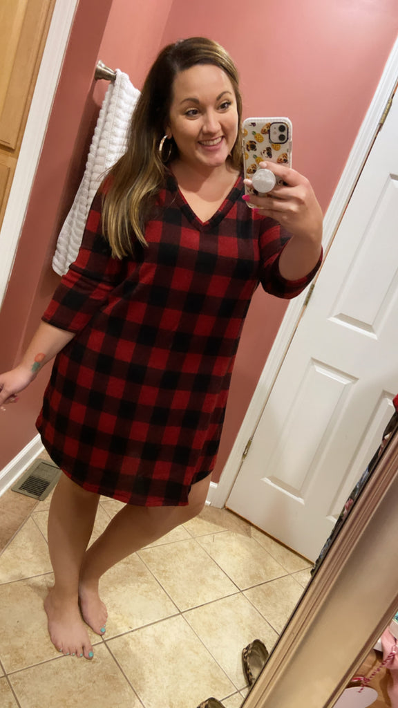 Nicky Buffalo Plaid Swing Dress