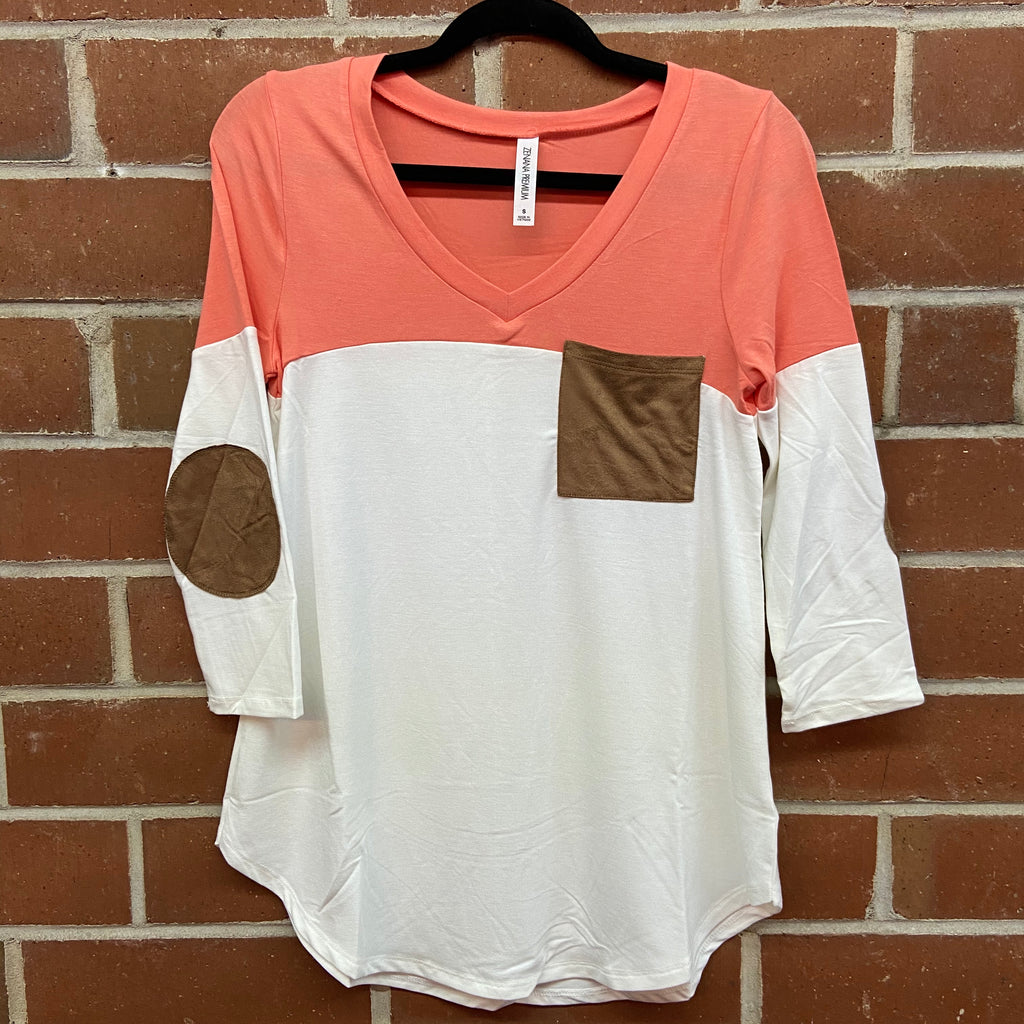 Levi Color Block Pocket Top