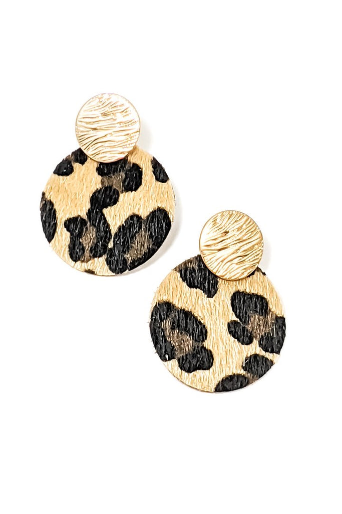 Kacey Leopard Earrings