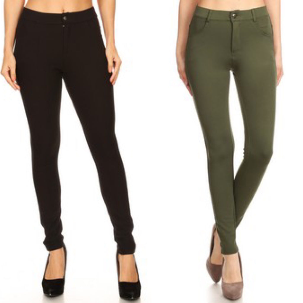 Ponte 'Work' Pants - 2 colors!