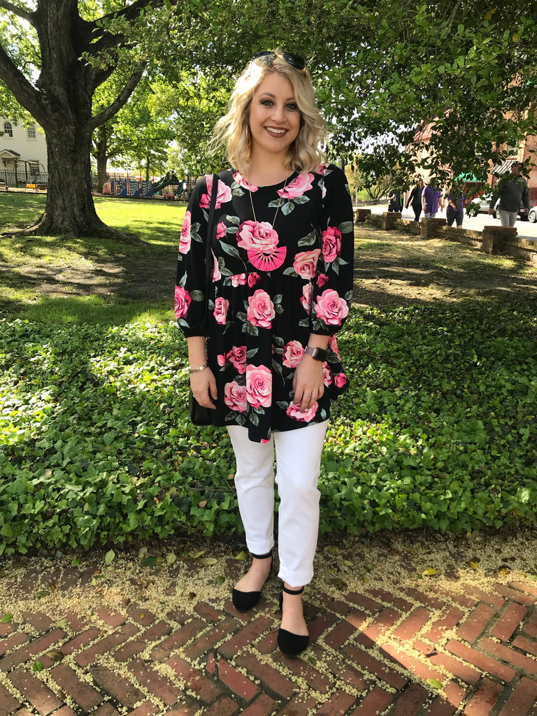 Anniston Floral Babydoll Top