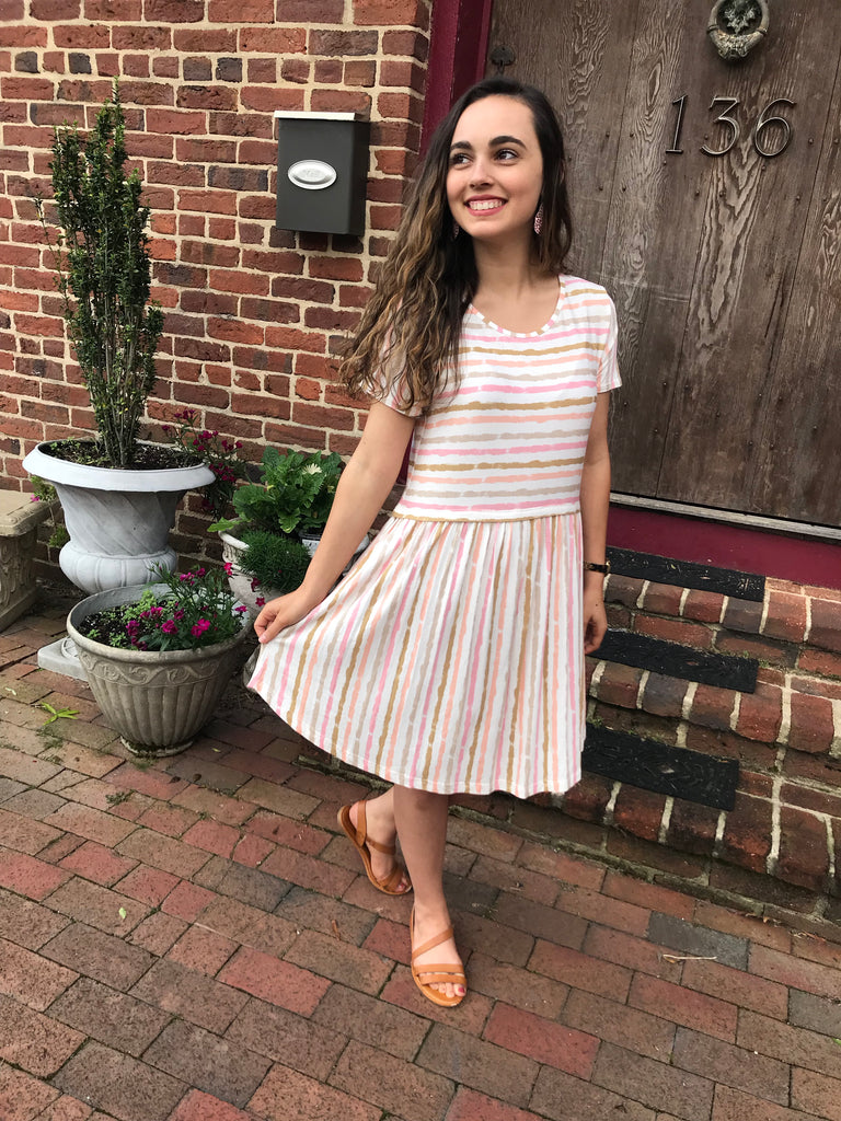 Nellie Stripe Dress +