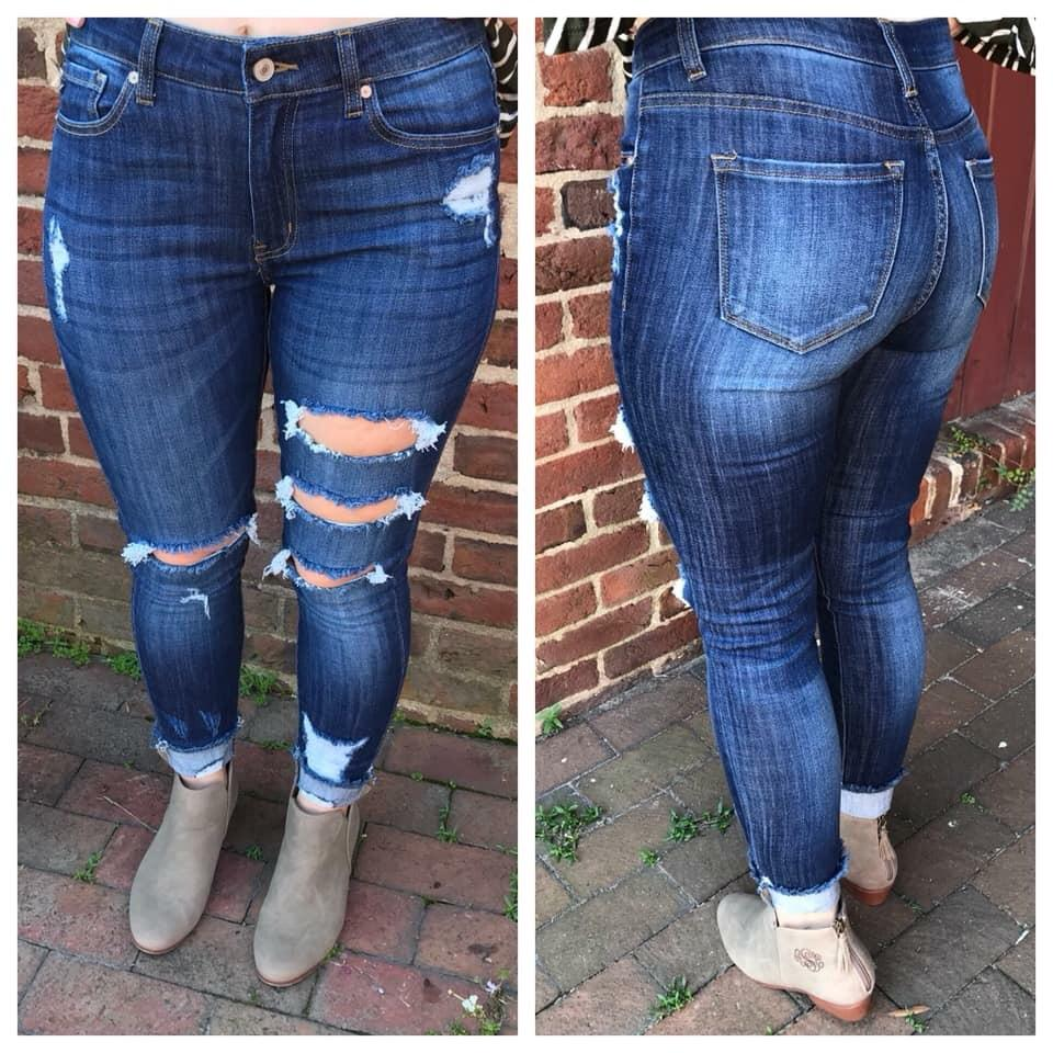 Jeans - Whitney Distressed Skinny Jeans