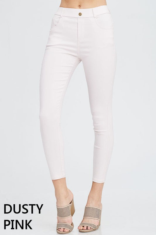 LARA Dusty Pink Jegging - Non Distressed+