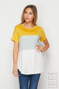 Christine Color Block Swing Top
