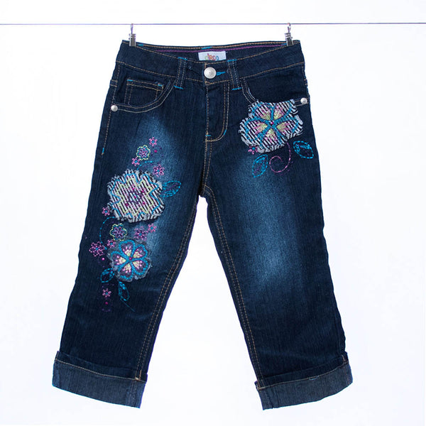 Circo Flower Embroidered Jeans