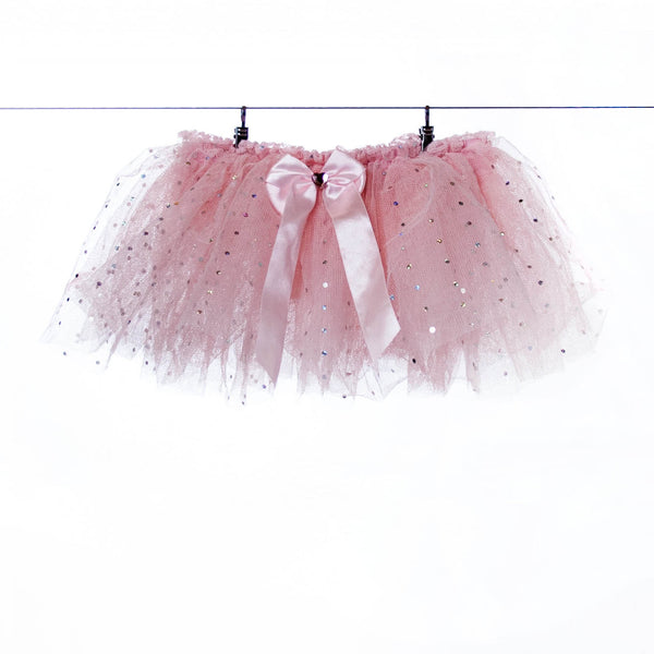 Pink Tutu with Silver Sparkles