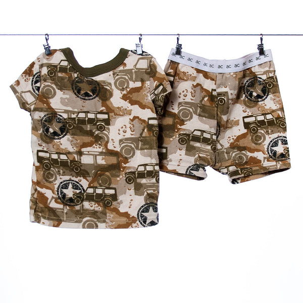 Amy Coe Boys Camo Jeep Pajamas - 2 Piece