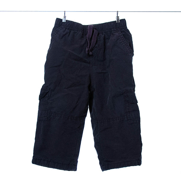 Gymboree Boys Black Cargo Pants with Lining