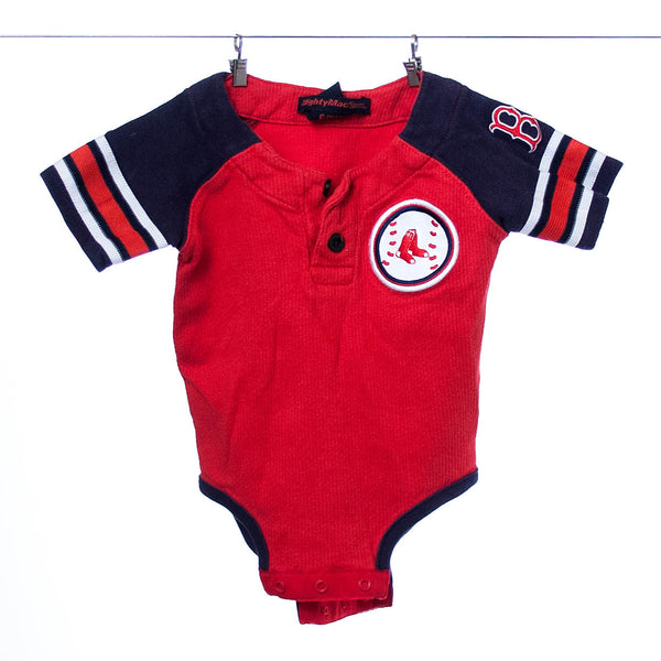 MightMacSports Boston Red Sox Team Onesie, Size 6-9 Months