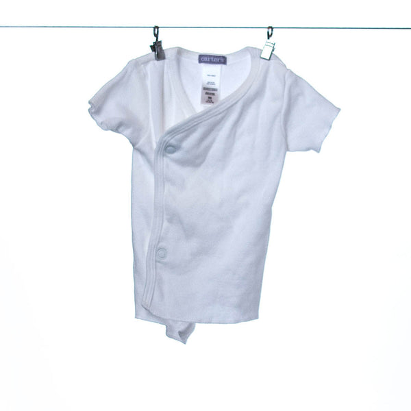 Carter's White Newborn Swaddle Tee Shirt