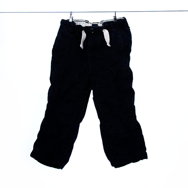 Baby Gap Navy Fleeced Lined Pants, Size 18-24 Months