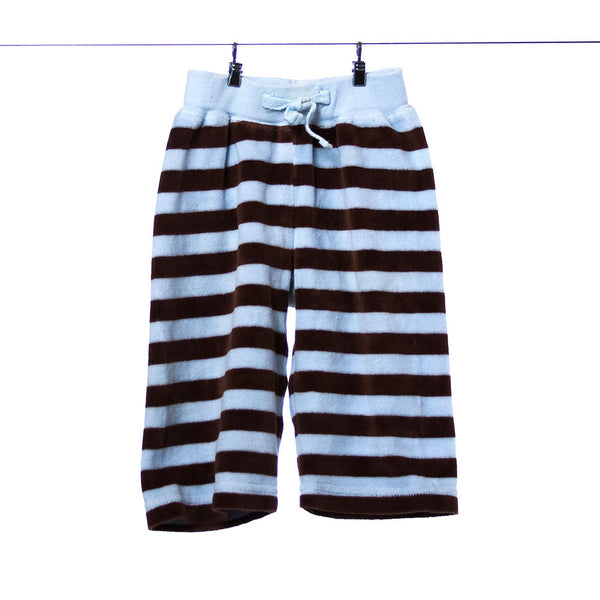 Gymboree Brown and Blue Striped Sweatpants for Boys 3-6 Months