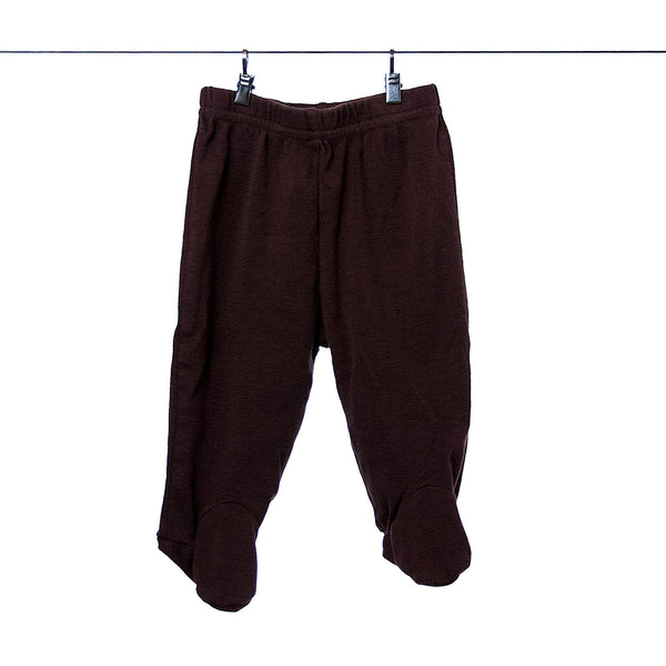 Carter's Newborn Brown Pants with Footsies for Boys