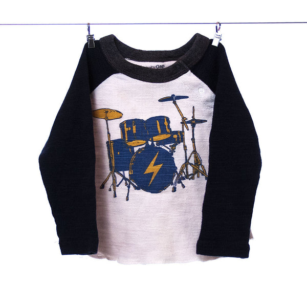 Baby Gap Drum Set Shirt 12-18 Months