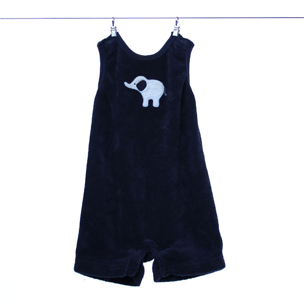 "Gymboree ""brand new"" Navy Blue Onesie with Elephant Pattern, Size 0-3 months"