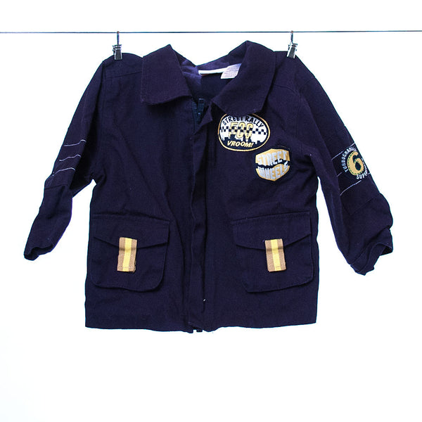 b.t. kids Boys Navy Blue Racing-Themed Jacket, Size 18 months