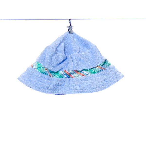 Ralph Lauren Polo Infant Baby Blue Hat with Green Plaid Accents