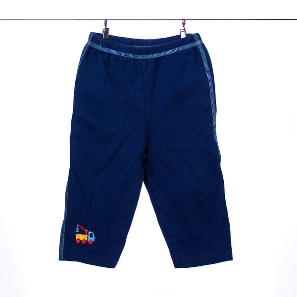 Lamaze Boys Blue Pants with Tow Truck, Size 6-9 months