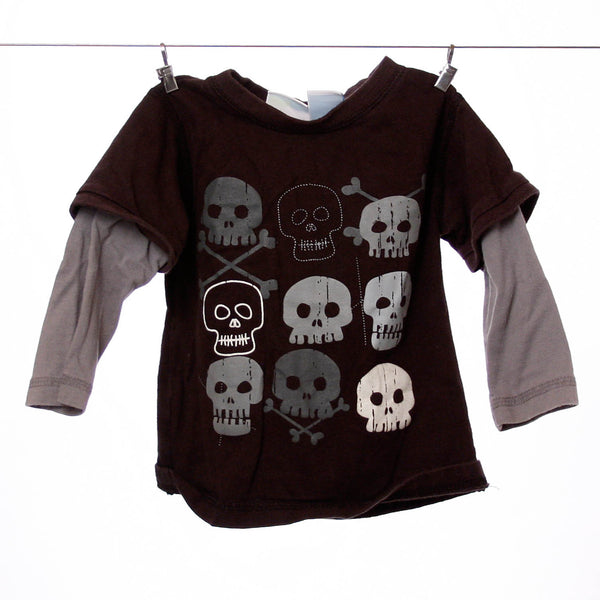 Amy Coe Boys Black Skull Long Sleeve Tee