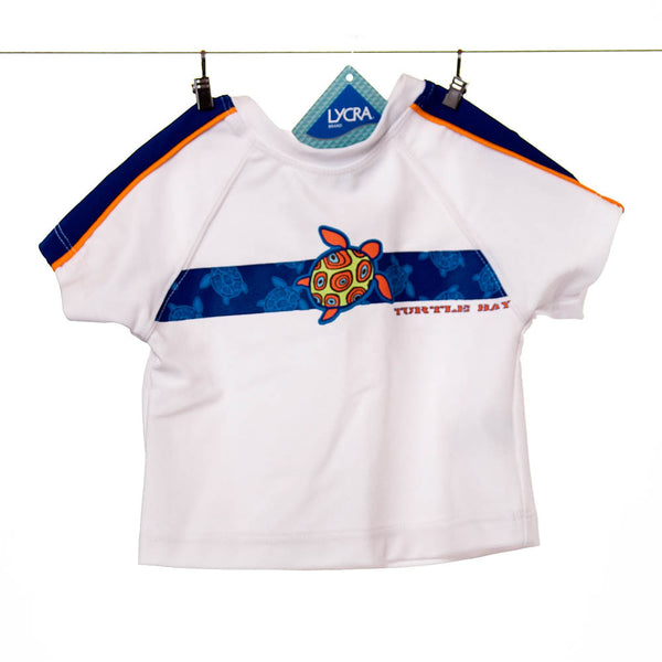 "Children's Place Boys ""Turtle Bay"" White Swim Top"