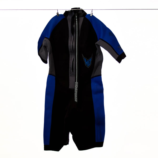 HO Sports Kids Black and Blue Wetsuit, Size 10