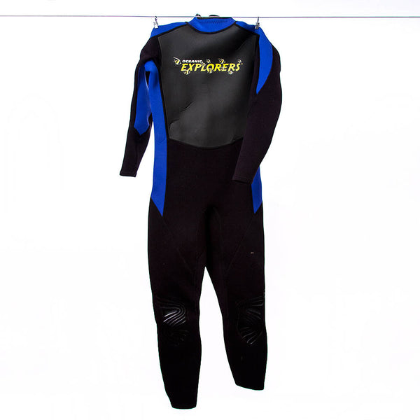 Oceanic Explorers Kids Black and Blue Wetsuit, Size 10