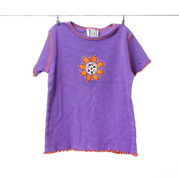 MisTeeV-Us Girls Purple and Orange Flower Tee, Size 6X/7
