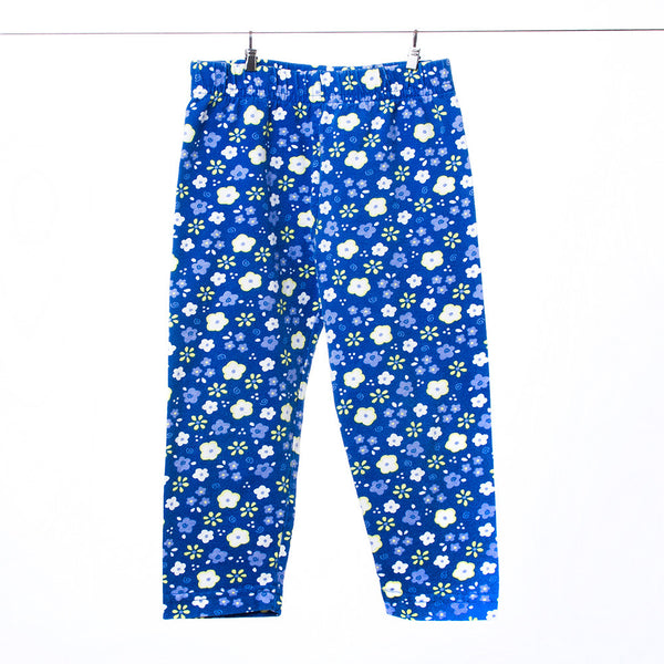 Baby N Girls Blue Floral Leggings, Size 2T