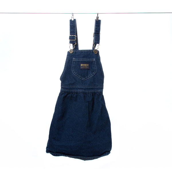 OshKosh B'gosh Girls Denim Dress with Overall-Style Straps and Buckles, Size 5